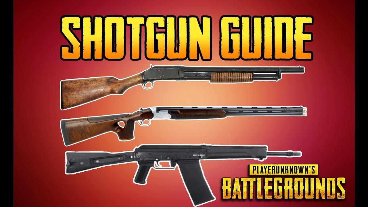 BATTLEGROUNDS SHOTGUN GUIDE! PUBG GUN GUIDE! TrainingGrounds Episode 2! - YouTube