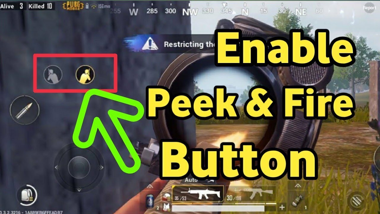 PUBG MOBILE - Know How to Enable Left and Right Side (Peek & Fire) Buttons and Take Advantage - YouTube
